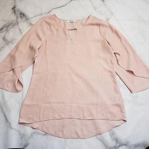 Counterparts sheer 3/4 blouse batwing sleeves
